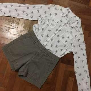 Cotton On French Bulldog Printed Button Down Shirt