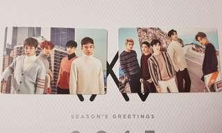 EXO GROUP 2017 Mini Calendar Photocard Season's Greetings