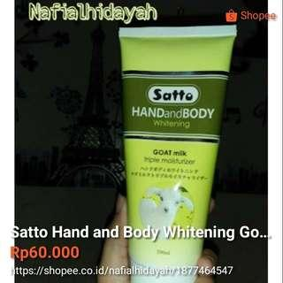 Satto Hand and Body Whitening Goat Milk 200ml