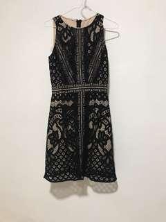Saturday club Black Lace Dress