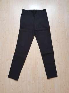 MANGO black pants zipper samping