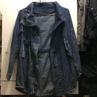 藍色洗水牛仔外套 blue denim jacket