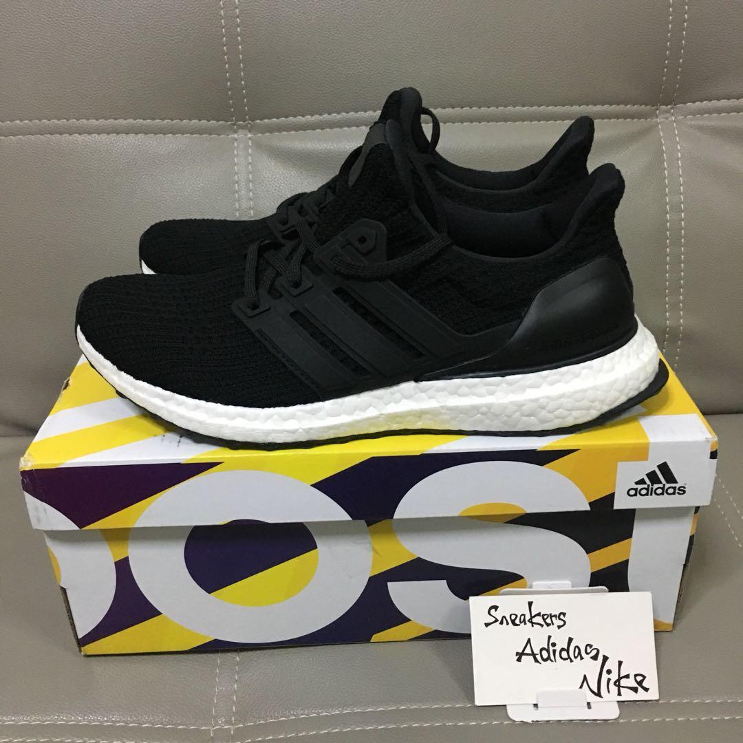 the latest e1a04 2a118 Adidas Ultra Boost 4.0 Core Black, Mens Fashion, Footwear, S