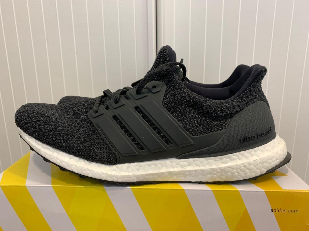9f16ec6cb7c Adidas ultra boost US11 Eur45 carbon black 黑色cm8116