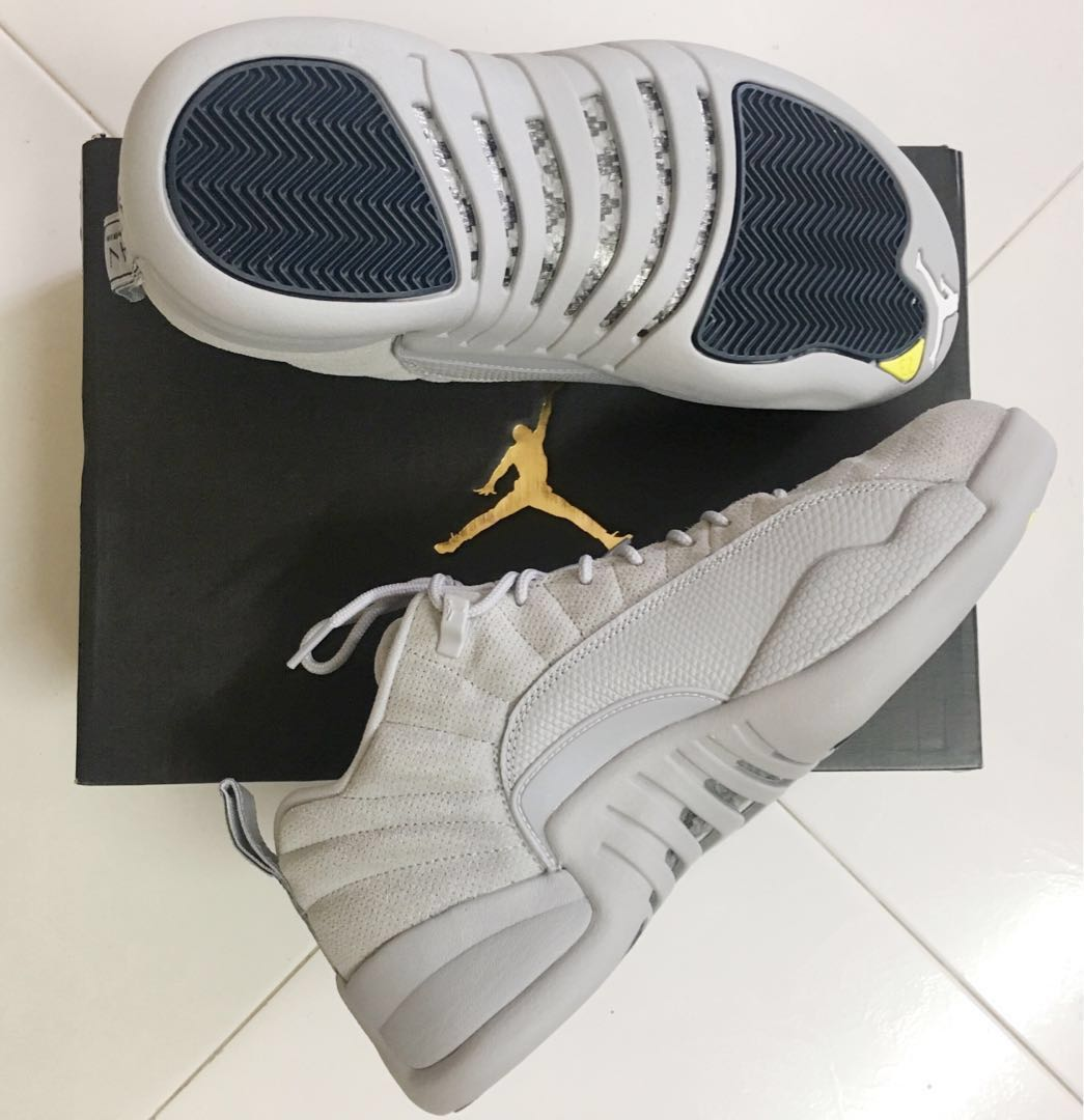 premium selection 0c254 85dcf Air Jordan 12 Low Wolf Grey, Sports, Sports Apparel on Carousell