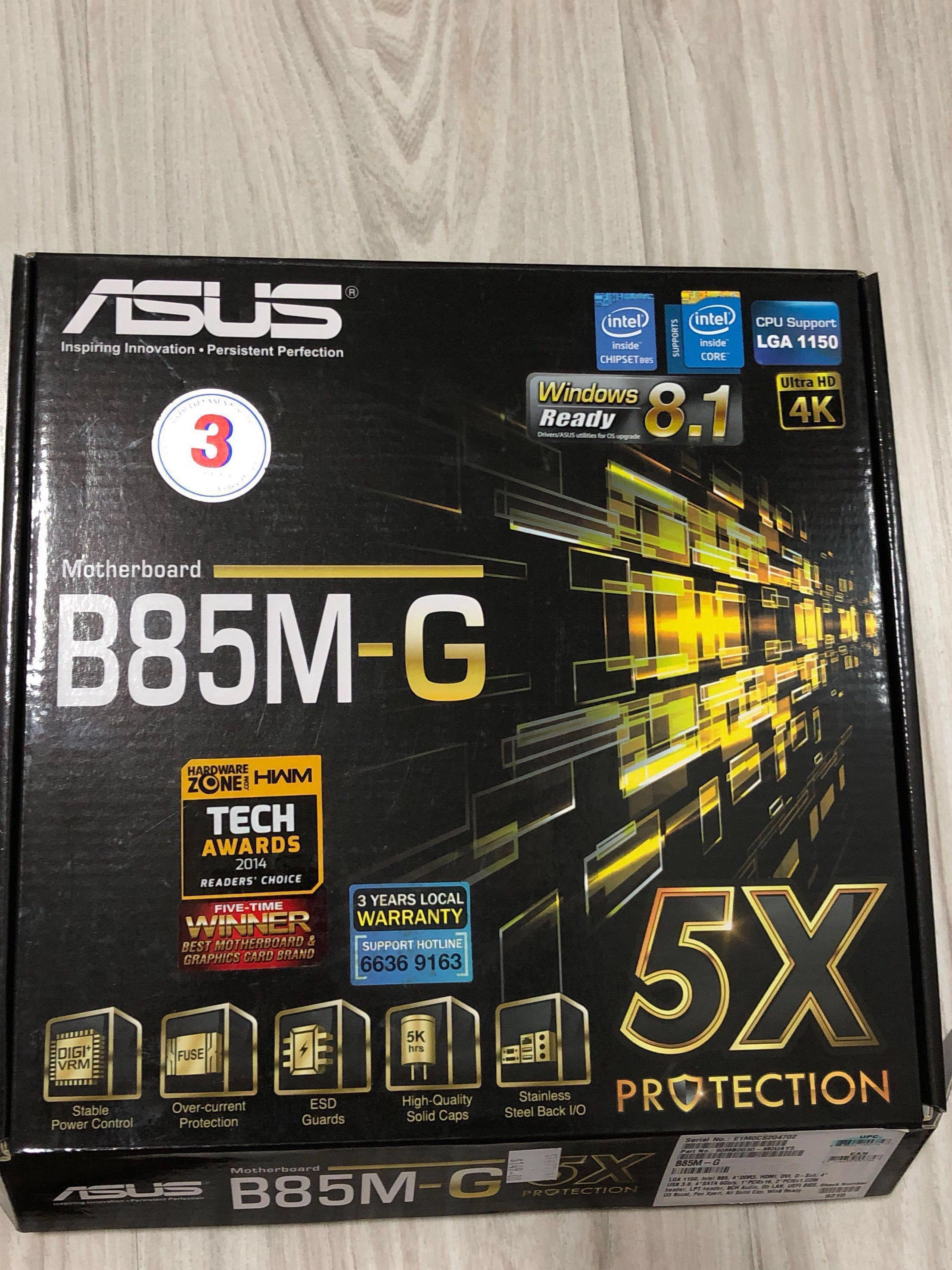 ASUS B85M-G motherboard for intel chipset, Electronics