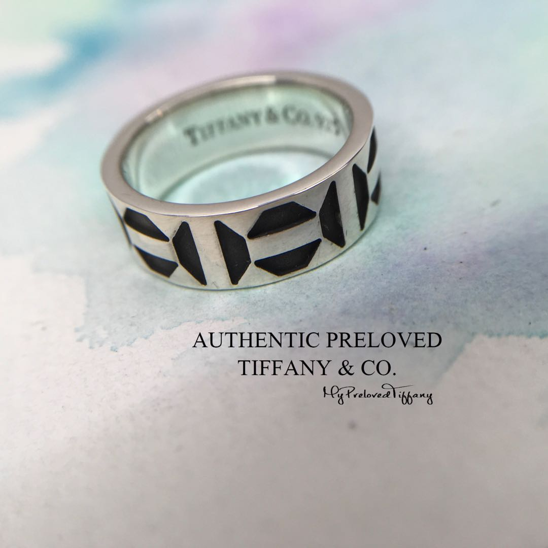 0caa880cc Authentic Tiffany & Co Paloma Picasso Zellige Oxidized Silver Ring ...