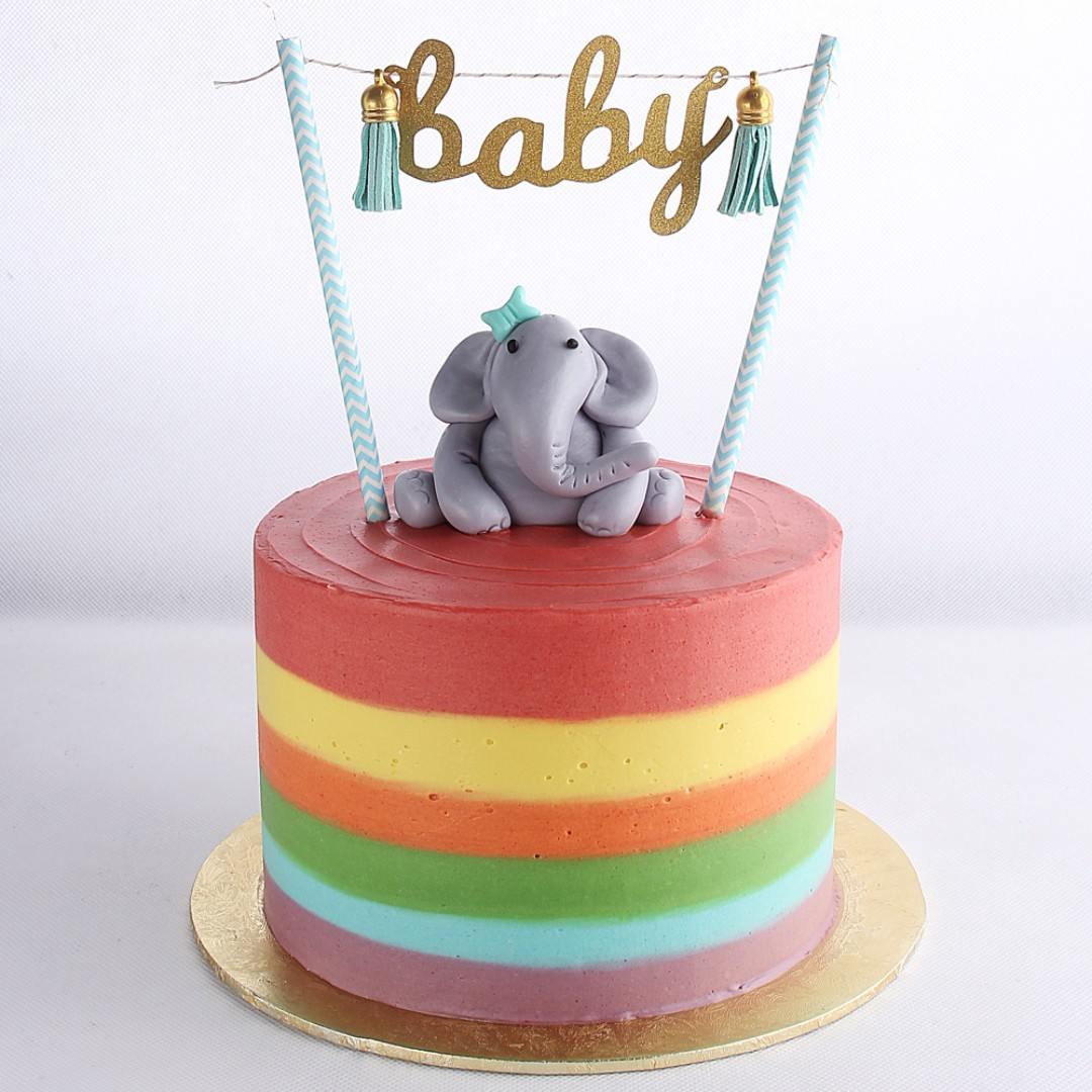 Baby Shower Or 1st First Birthday Rainbow Cake Food Drinks Baked Goods On Carousell
