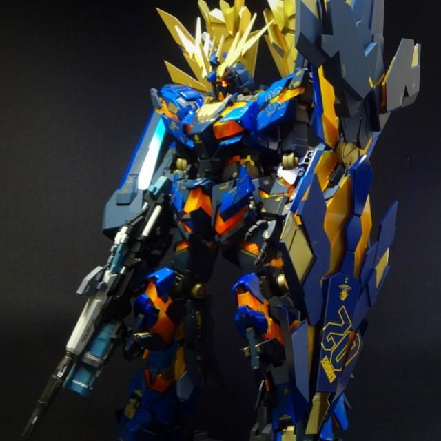 Banshee Norn Gundam PG Customize Paint Build