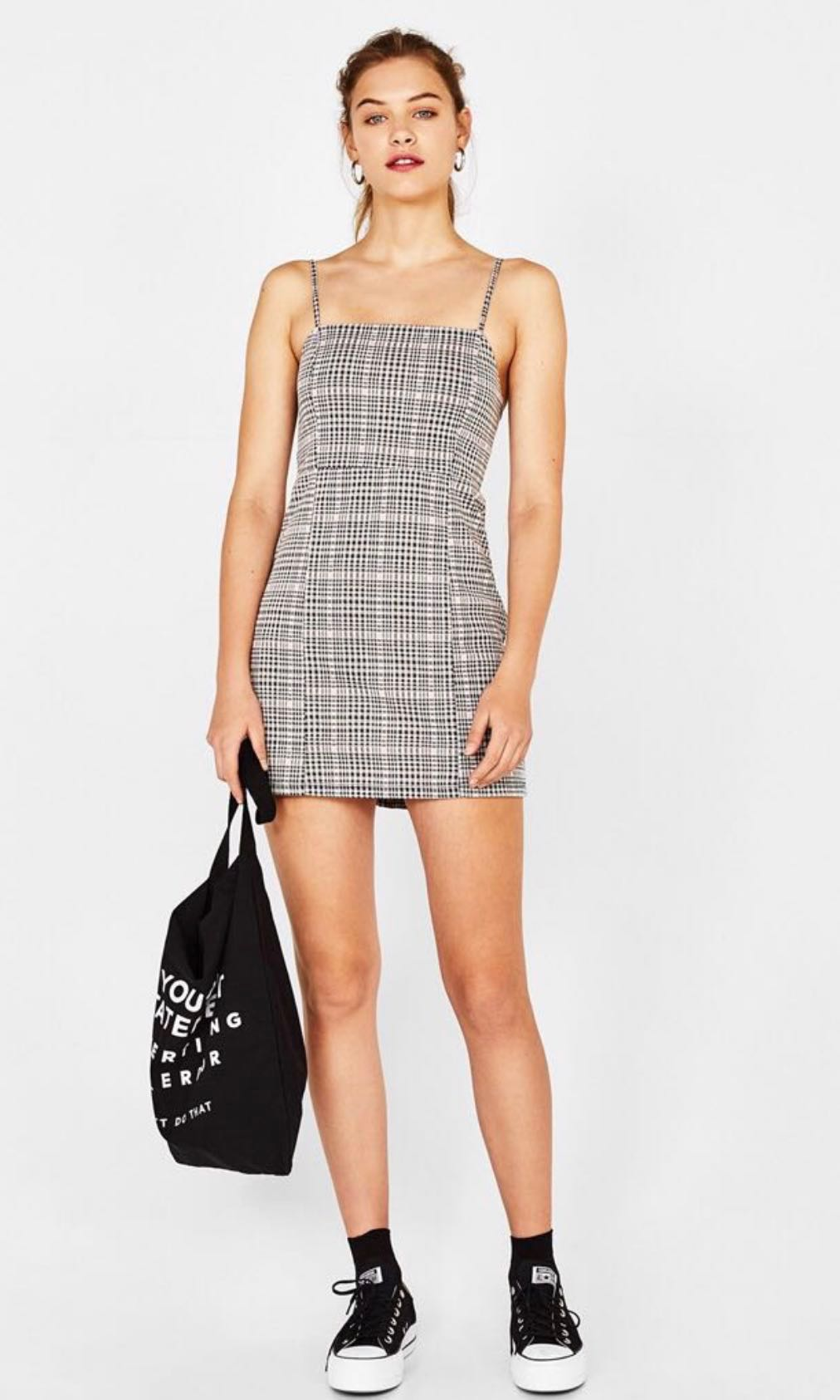 36f2444953f bershka plaid houndstooth checkered dress