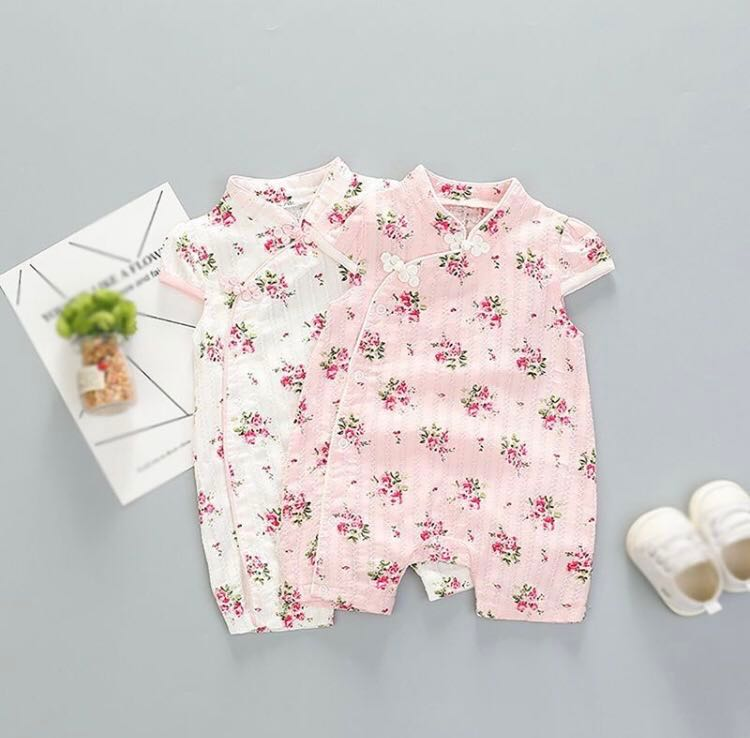 1948889a743 BN Baby Girl Chinese Cheongsam Style Floral Romper 6-9 mths Ready ...