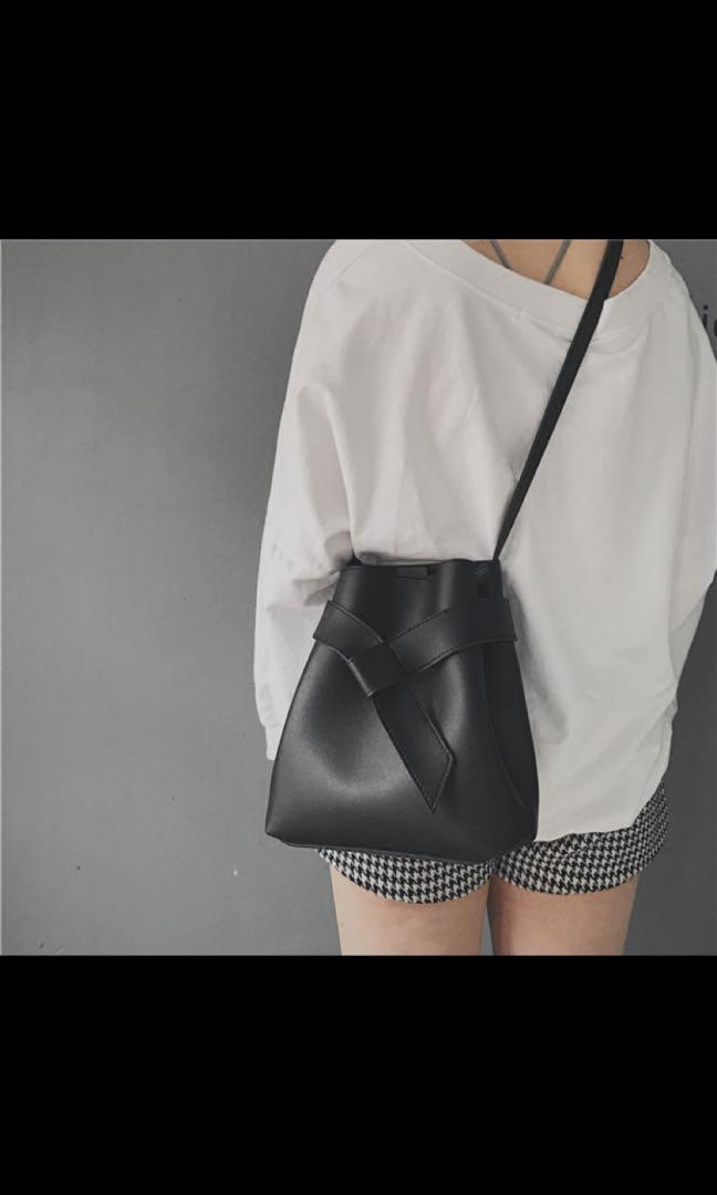 BNIP Korean Black Sling Bag