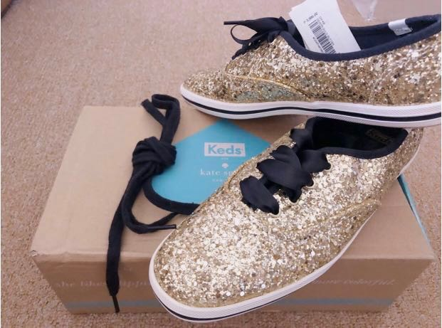 1077bb0cab7c Brand New Keds x Kate Spade New York Champion Gold Glitter Sneakers ...