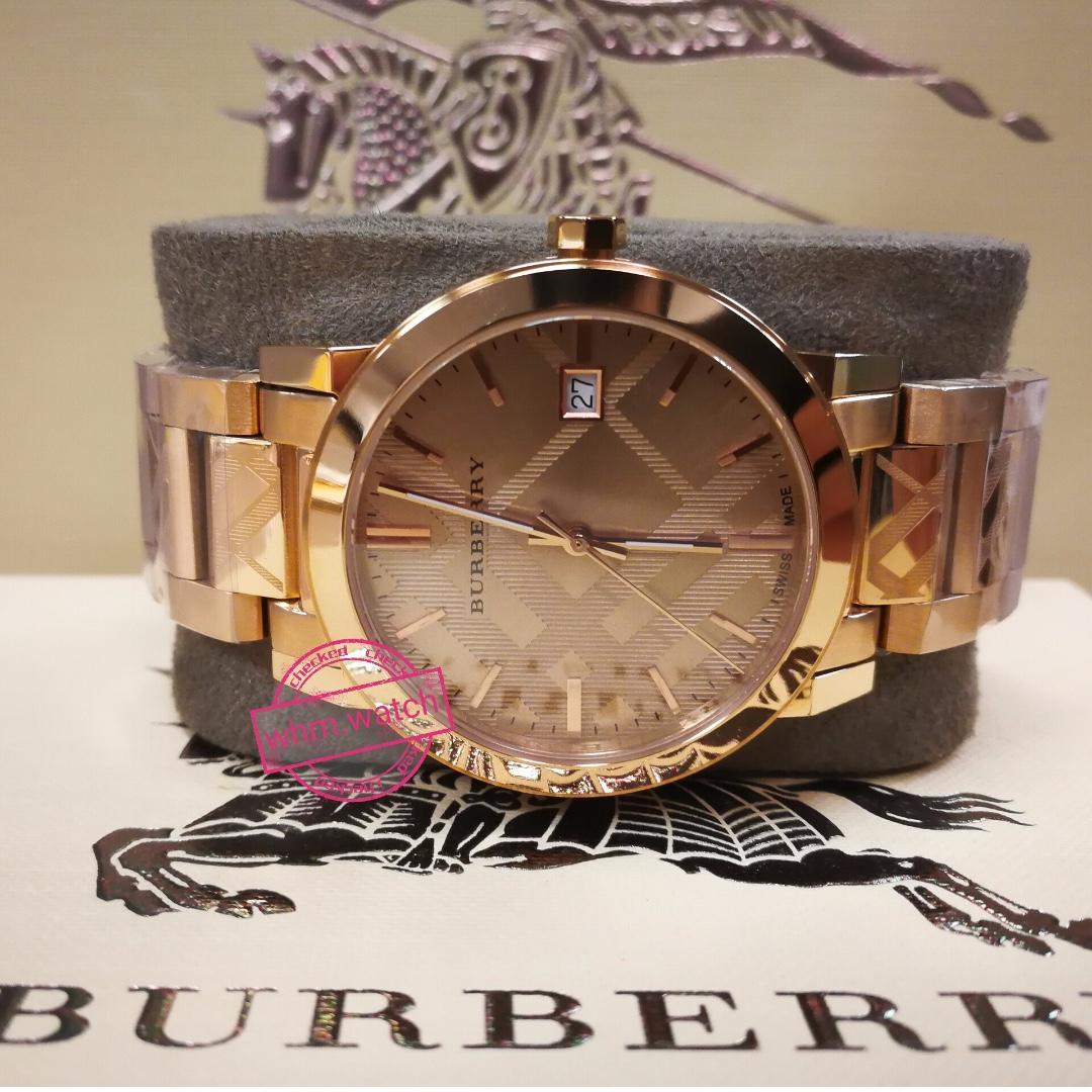 1c237fce53ca55 Burberry Rose Gold-Tone Dial Stainless Steel Quartz Ladies Watch ...