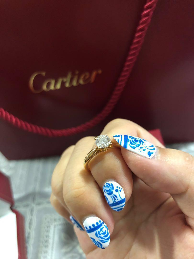 Cartier 1895 engagement ring