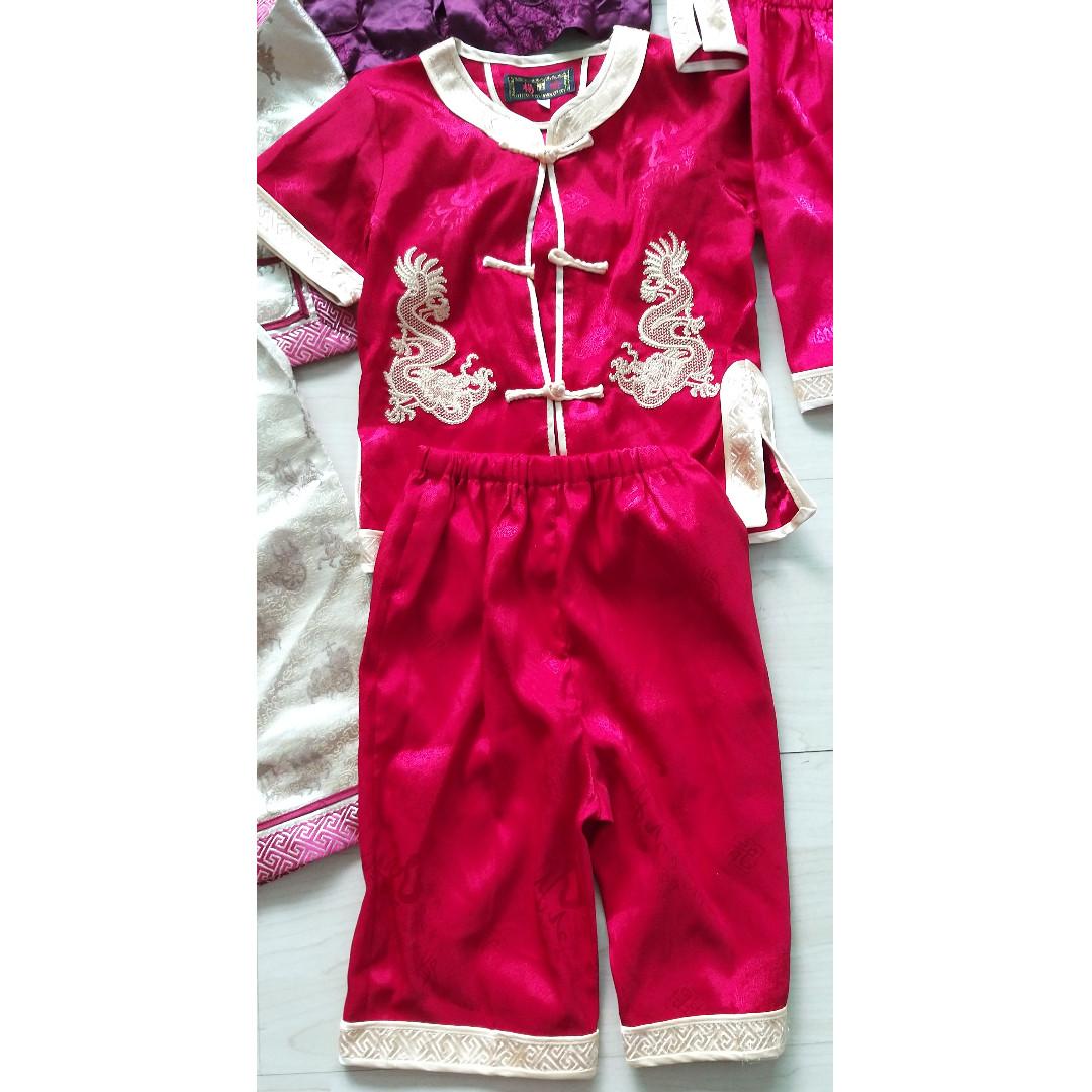 Chinese New Year CNY boys shirt pants set c0c348369