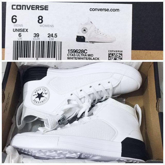 7e6aba5779d CNY SALE] {BN} Converse Chuck Taylor All Star Ultra Mid (White ...