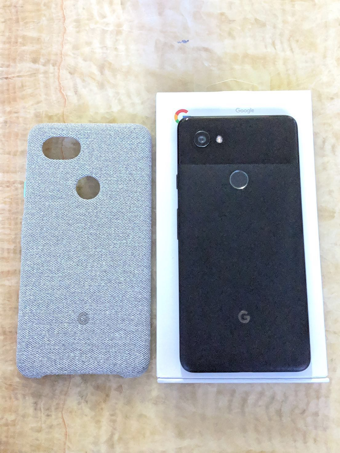 new product 68015 c3bda [CNY Sale] Google Pixel 2 XL Fabric Case Cement
