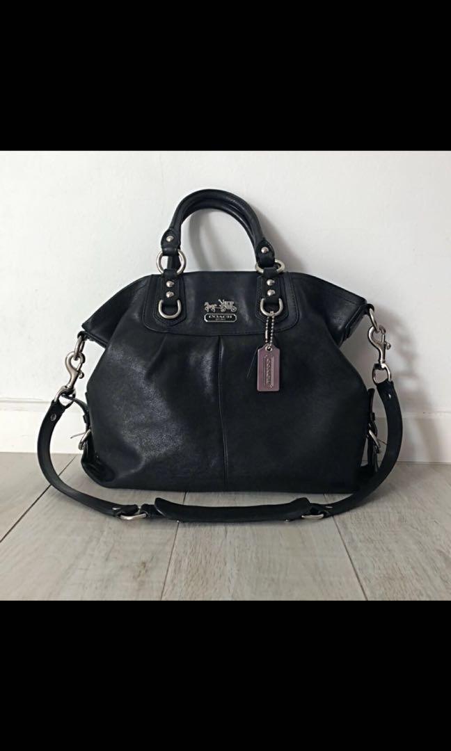 2b10f7ea1e Coach Madison Julianne Black Shoulder Bag, Luxury, Bags & Wallets ...