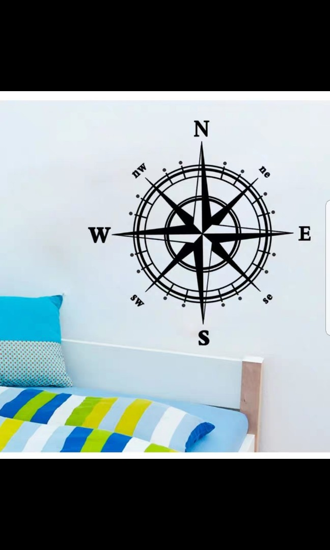 compass stickers living room bedroom background decoration wall