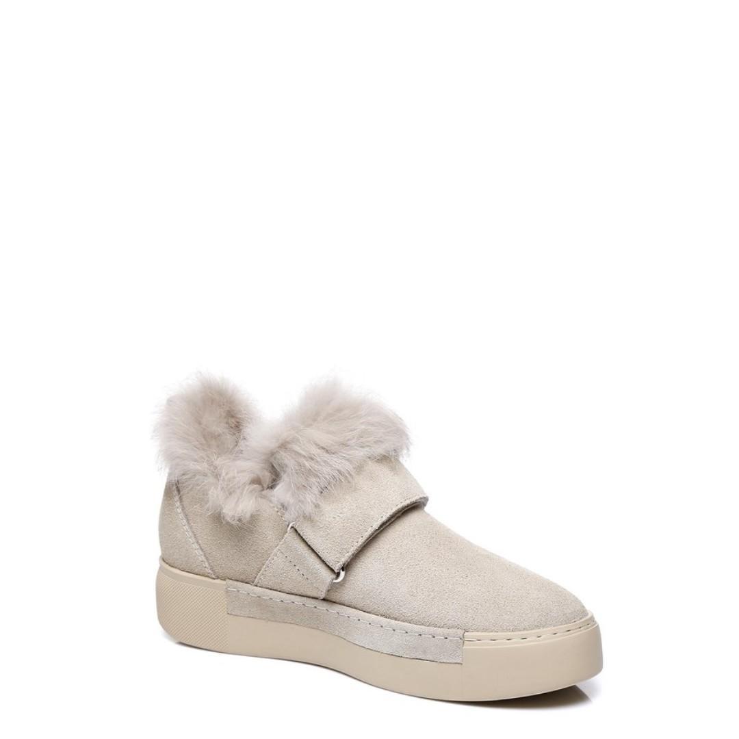 Everugg Hedda,Ladies buckle flats,Cow Suede Upper,Sheepskin Lining,Rubber sole