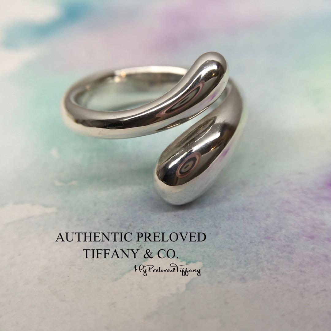 5bf49fb12 Excellent Authentic Tiffany & Co. Elsa Peretti Teardrop Silver Ring ...