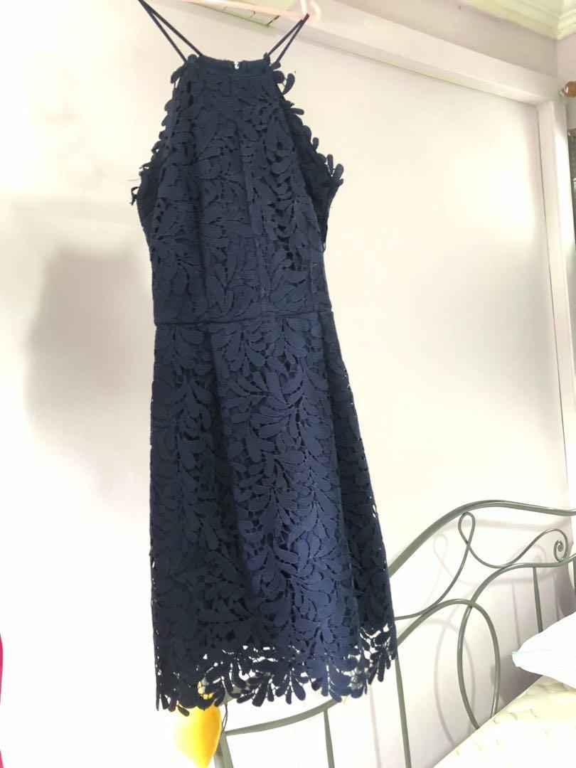 Fayth Navy Dress