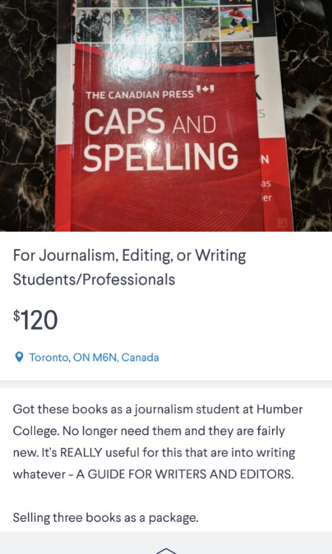 For Journalism, Editing, or Writing Students/Professionals