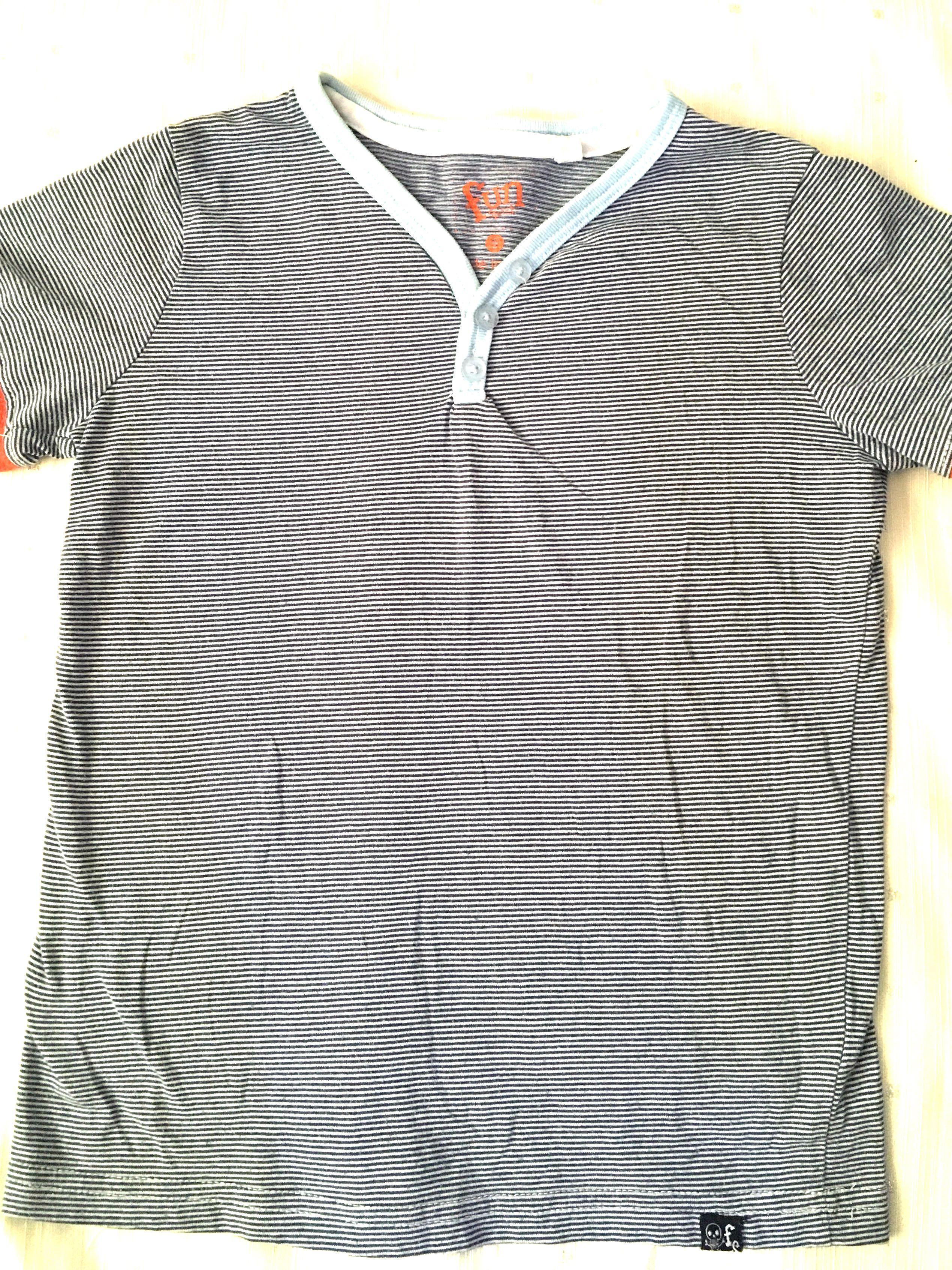 ac5675b2bc Fun Boys Striped Cotton T-Shirt Top Size 5 on Carousell