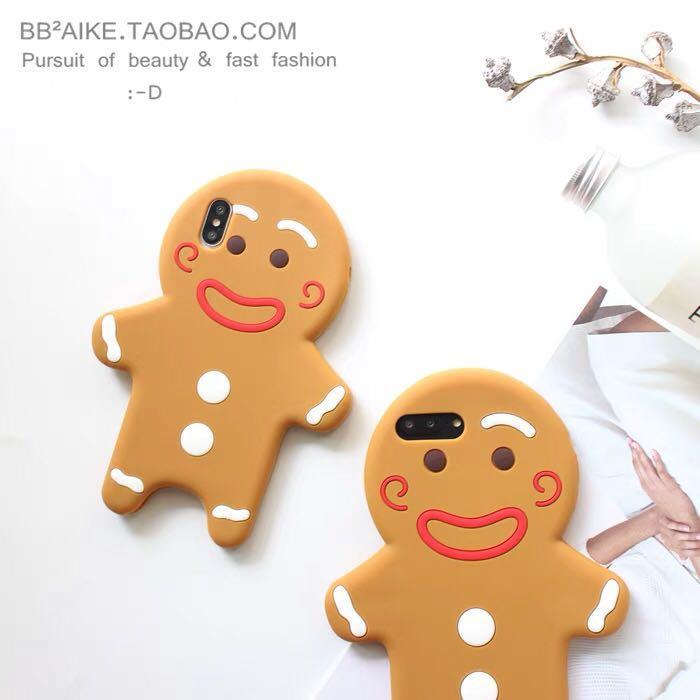 Gingerbread man iPhone 8 Plus phone case