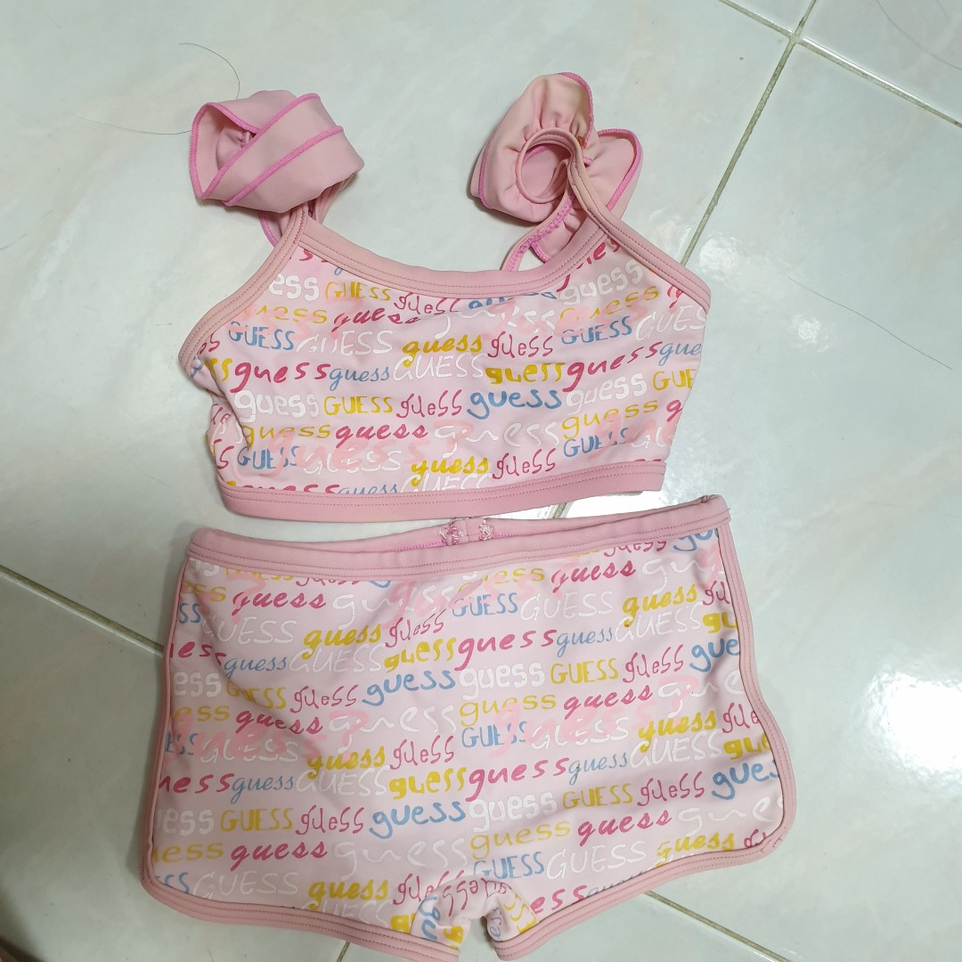 8a9cc6e4f3fb9 Guess Girls Childrens Swimming Costume 2 piece set 6to8yrs, Babies ...