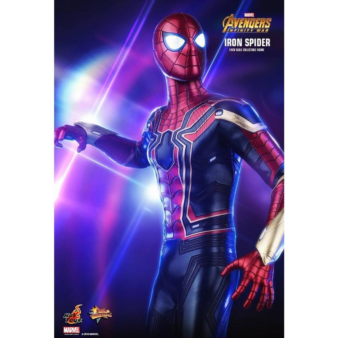 US SHIP Marvel Avengers Infinity War Spiderman Tom Holland Head Suit Body Figure