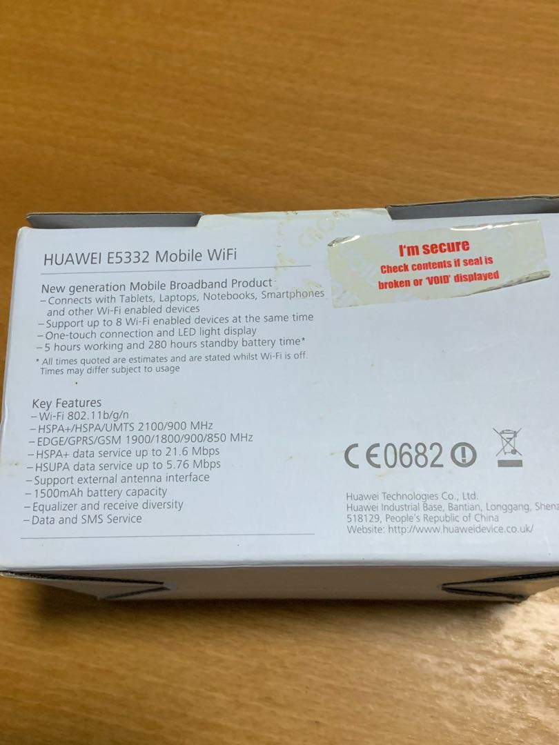HUAWEI mobile router E5332 (3G), speed acceptable to me