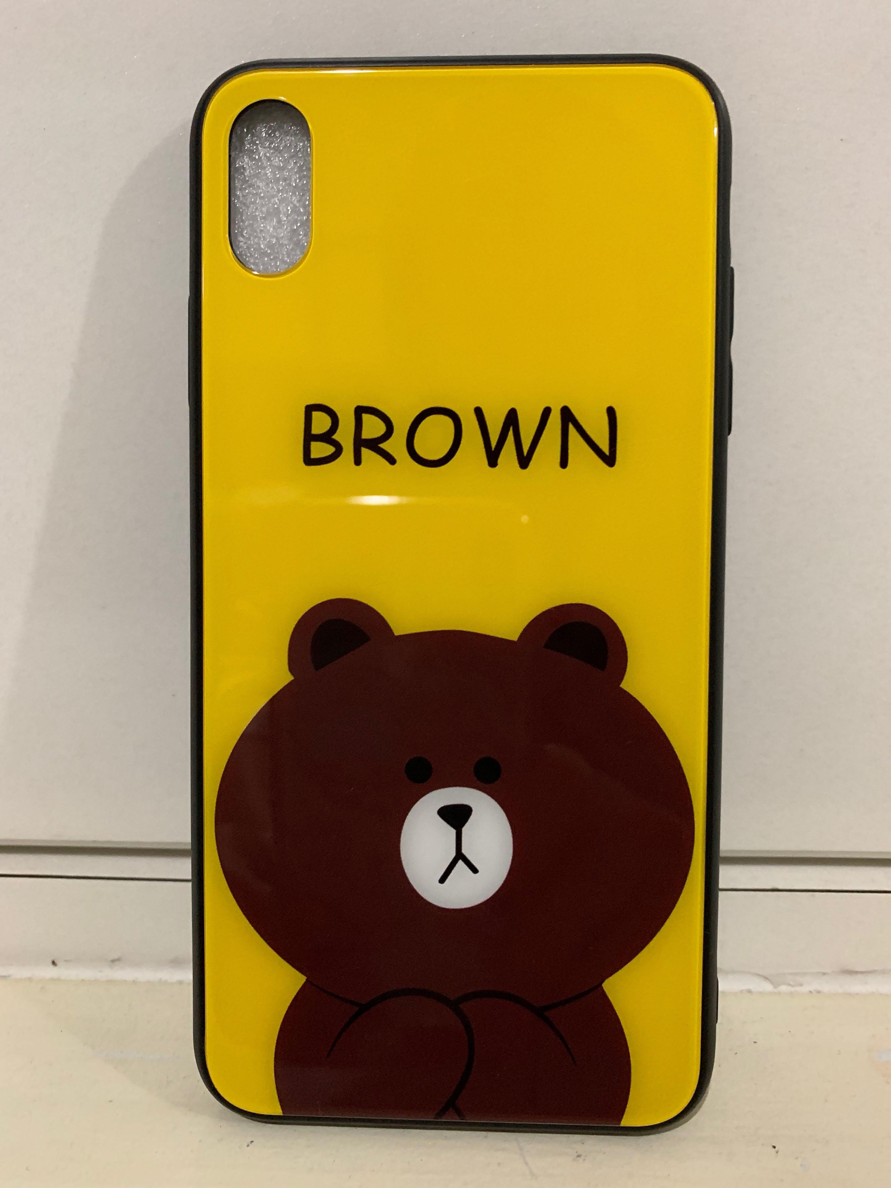 iPhone XS MAX LINE Brown Bear Casing