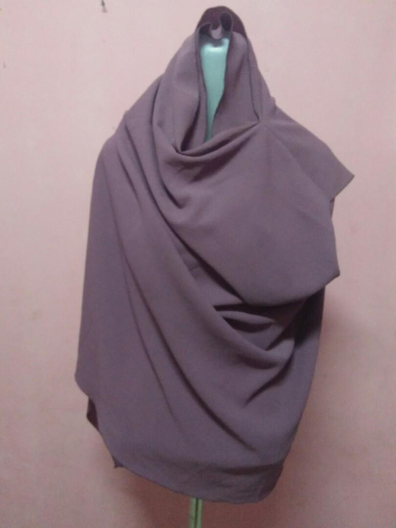 Pashtan Pashmina Instan Ceruti Babydoll Fesyen Wanita Muslim Fashion Lainnya Di Carousell