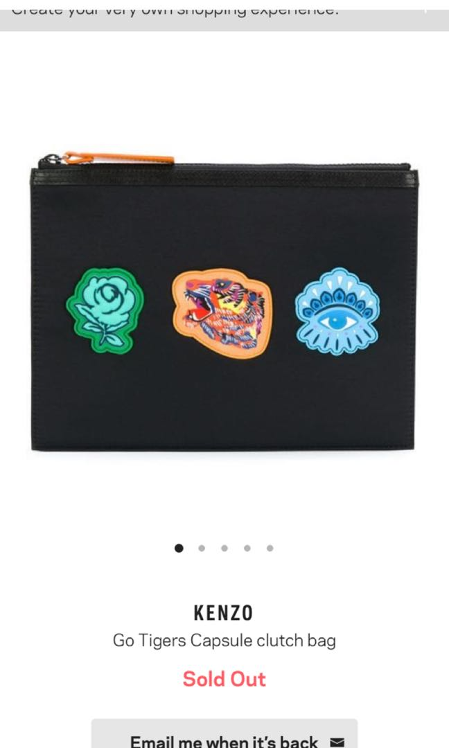 c89556db86 Kenzo 'Go Tigers' A4 clutch, Men's Fashion, Bags & Wallets, Others ...