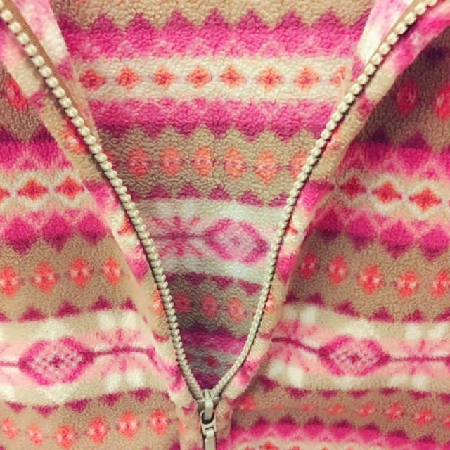 Lativ 厚棉保暖拉鍊立領外套 🌸櫻花粉 M 280元