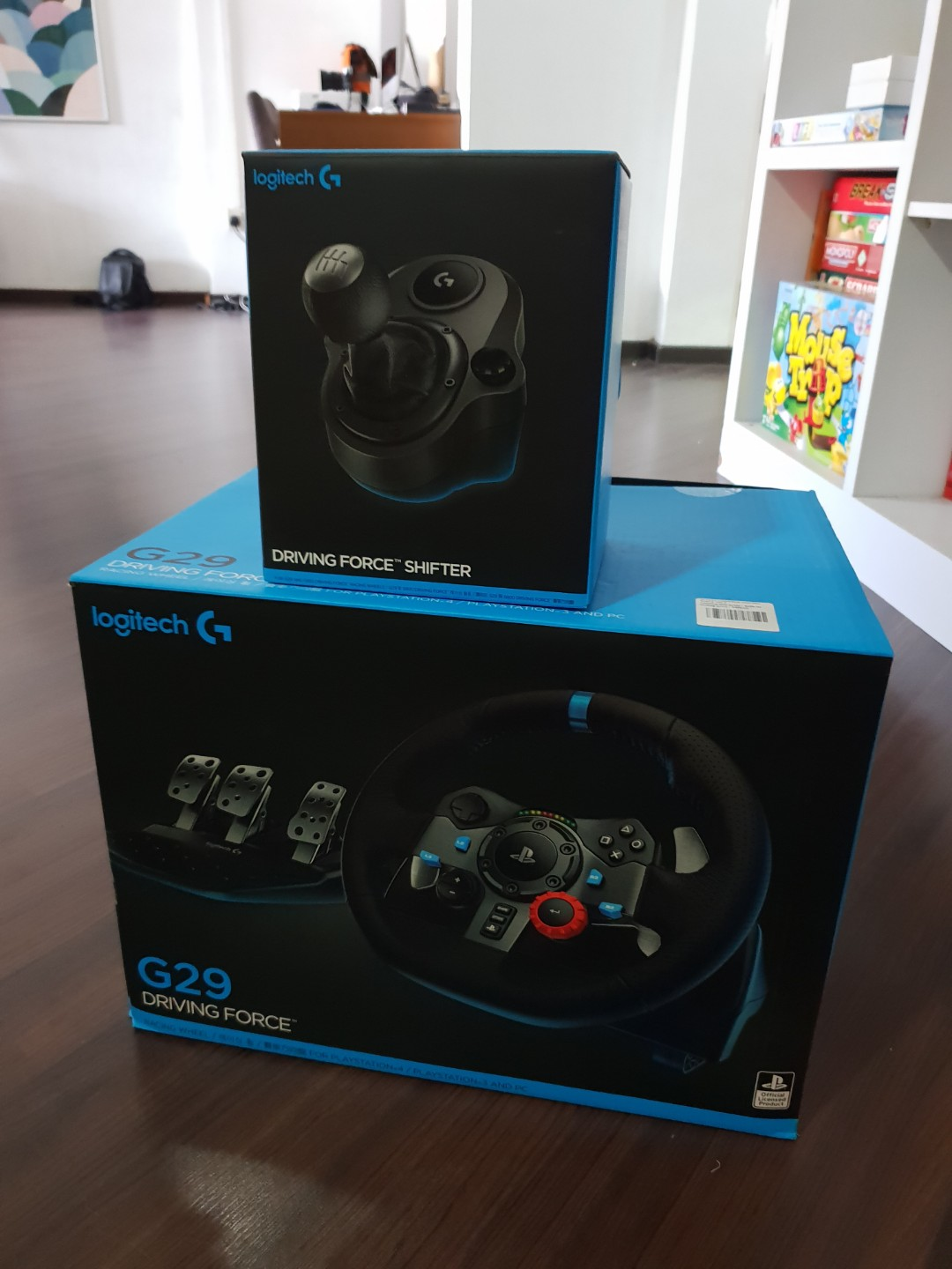 Logitech G29 Driving Force + Driving Force Shifter for PS4/PC