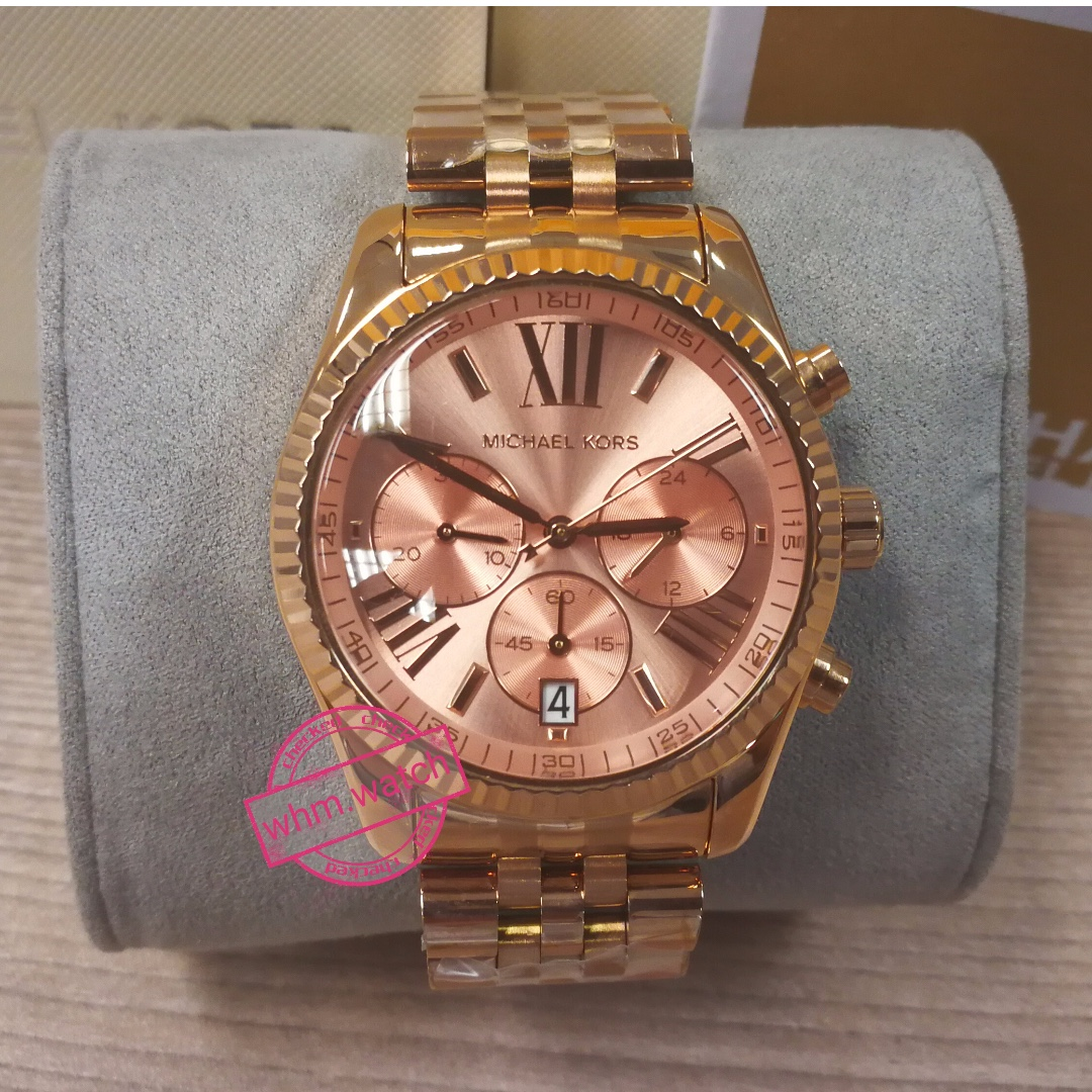 297fb02726df MICHAEL KORS MK5569 Lexington Chronograph Rose Dial Ladies Watch ...