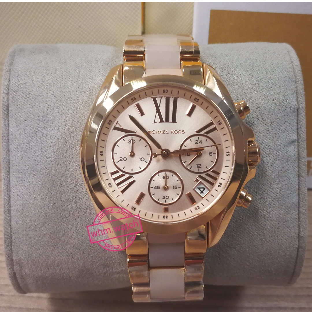 e484b23b3958 MICHAEL KORS MK6066 Mini Bradshaw Rose Gold-Tone Stainless Steel ...