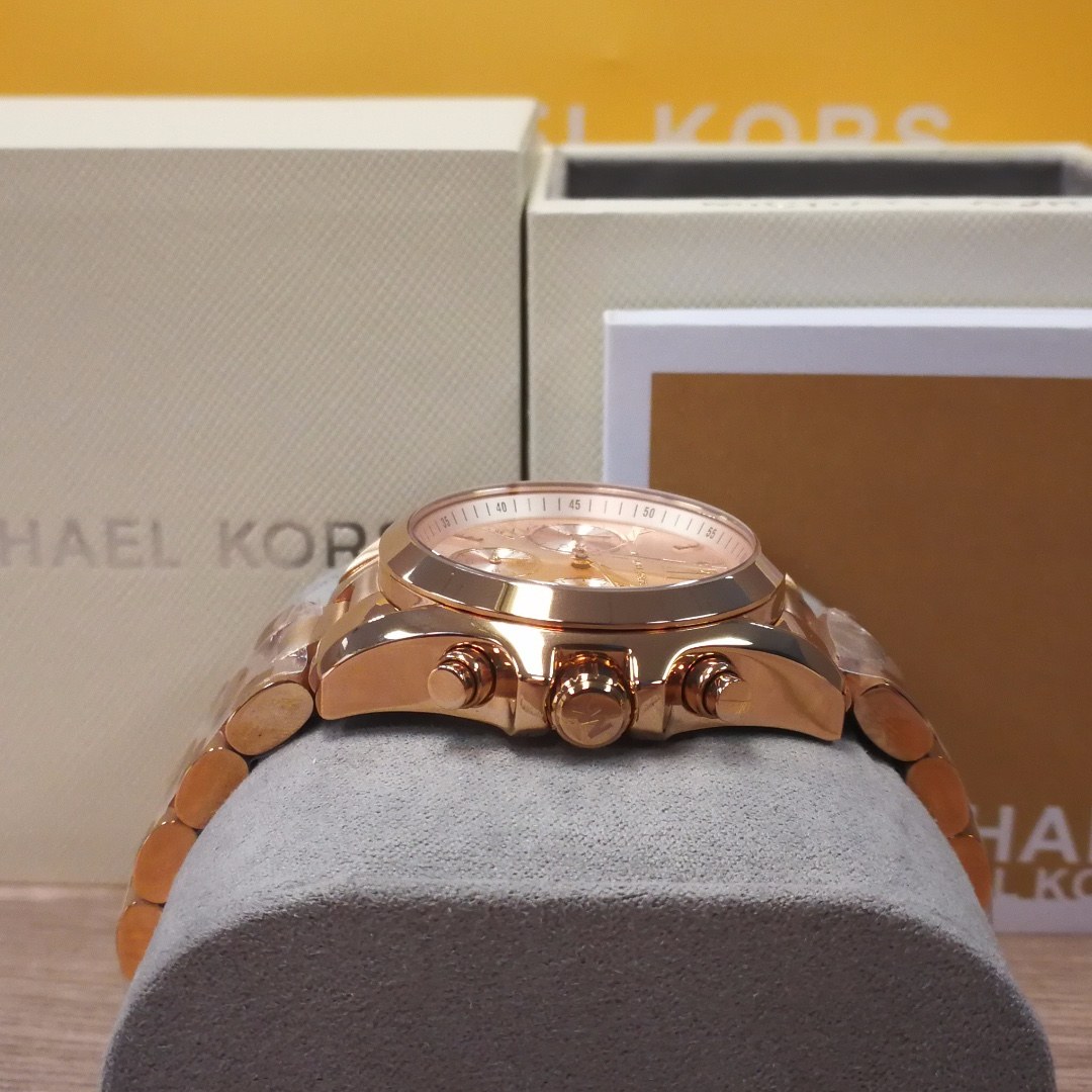 40a142cf817 MICHAEL KORS MK6066 Mini Bradshaw Rose Gold-Tone Stainless Steel Watch