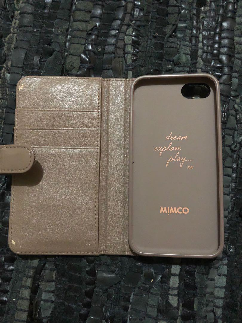 Mimco Brown Phone Case