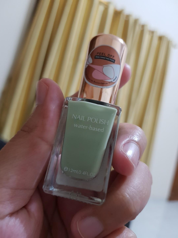 Miniso Mint Green Peel Off Nail Polish