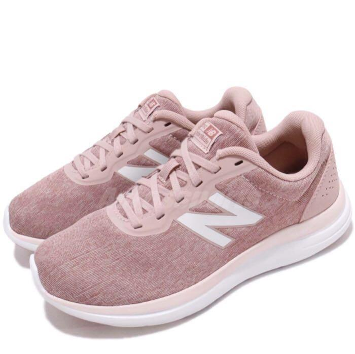 D Wide Pink White Women Running Shoes