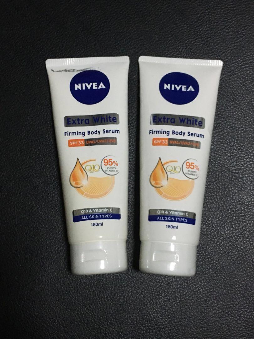 Nivea Extra White Firming Body Serum SPF33 PA+++, Health & Beauty, Bath & Body on Carousell