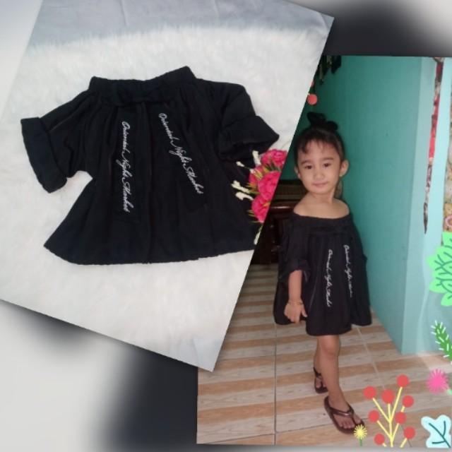 c487b699716ca8 💛SALE 80 Off shoulder dress for 3-4 y/o, Babies & Kids, Girls ...