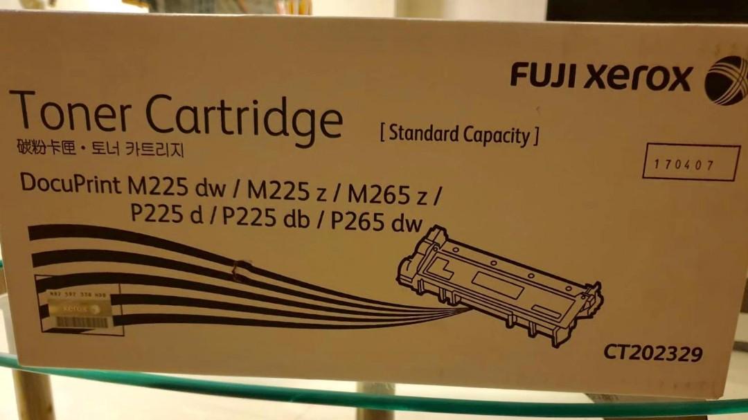 (ORIGINAL) New Fuji Xerox Printer Toner Cartridge CT202329 DocuPrint M225  DW / M225 Z / M265 Z / P225 D / P225 DB / P265 dw