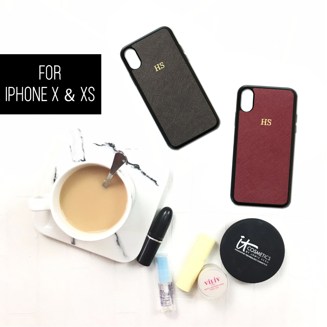 64a3c33b3b Personalised Saffiano Leather Phone Case With Name/Initials, Mobile ...