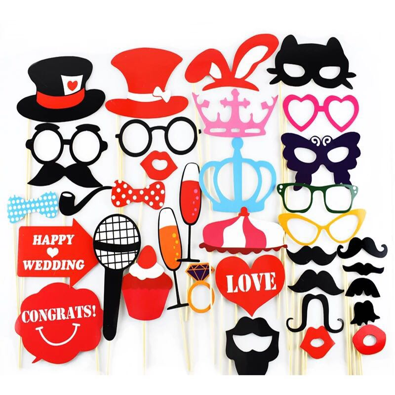 Photo Booth Props Funny Creative Wedding Birthday Christmas Party ... 82fe8cef42c