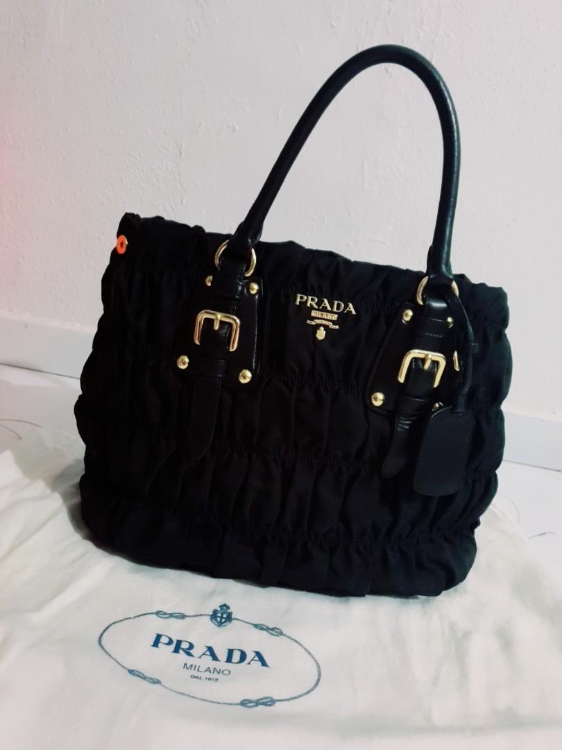 75e8fccb70aa Prada Tessuto Gaufre tote, Luxury, Bags & Wallets, Handbags on Carousell